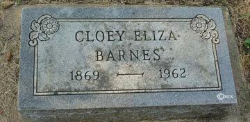 BARNES, CLOEY ELIZA - Minnehaha County, South Dakota | CLOEY ELIZA BARNES - South Dakota Gravestone Photos