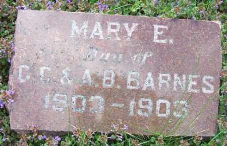 BARNES, MARY E. - Minnehaha County, South Dakota   MARY E. BARNES - South Dakota Gravestone Photos