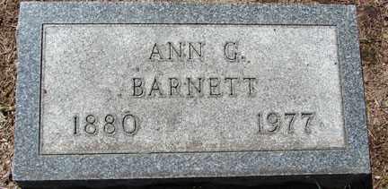 BARNETT, ANN G. - Minnehaha County, South Dakota | ANN G. BARNETT - South Dakota Gravestone Photos