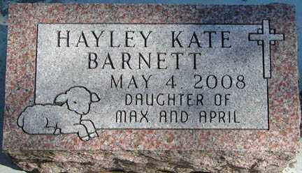 BARNETT, HAYLEY KATE - Minnehaha County, South Dakota | HAYLEY KATE BARNETT - South Dakota Gravestone Photos
