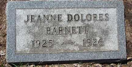 BARNETT, JEANNE DOLORES - Minnehaha County, South Dakota | JEANNE DOLORES BARNETT - South Dakota Gravestone Photos