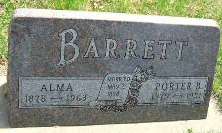 BARRETT, PORTER B. - Minnehaha County, South Dakota | PORTER B. BARRETT - South Dakota Gravestone Photos