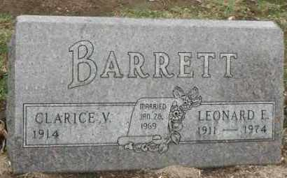 BARRETT, CLARICE V. - Minnehaha County, South Dakota | CLARICE V. BARRETT - South Dakota Gravestone Photos