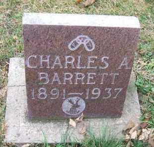 BARRETT, CHARLES A. - Minnehaha County, South Dakota   CHARLES A. BARRETT - South Dakota Gravestone Photos