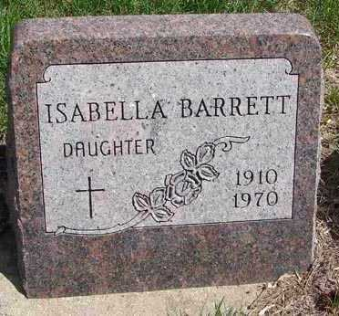 BARRETT, ISABELLA - Minnehaha County, South Dakota | ISABELLA BARRETT - South Dakota Gravestone Photos