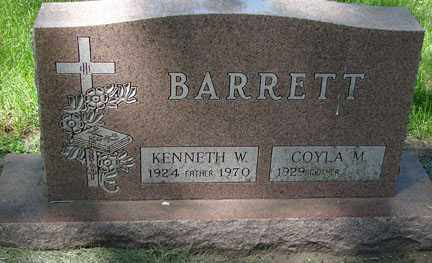 BARRETT, KENNETH W. - Minnehaha County, South Dakota | KENNETH W. BARRETT - South Dakota Gravestone Photos