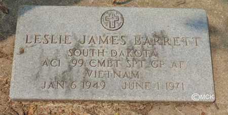 BARRETT, LESILE JAMES - Minnehaha County, South Dakota | LESILE JAMES BARRETT - South Dakota Gravestone Photos