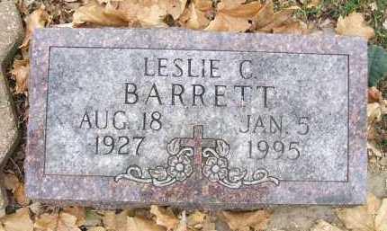 BARRETT, LESLIE C. - Minnehaha County, South Dakota   LESLIE C. BARRETT - South Dakota Gravestone Photos