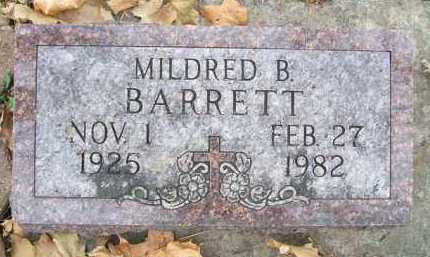 BARRETT, MILDRED B. - Minnehaha County, South Dakota | MILDRED B. BARRETT - South Dakota Gravestone Photos