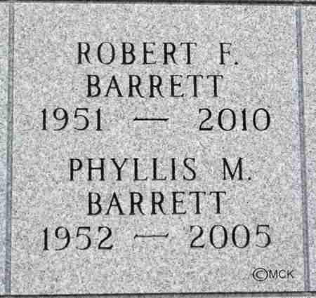 BARRETT, PHYLLIS M. - Minnehaha County, South Dakota | PHYLLIS M. BARRETT - South Dakota Gravestone Photos