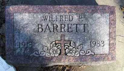 BARRETT, WILFRED P. - Minnehaha County, South Dakota | WILFRED P. BARRETT - South Dakota Gravestone Photos