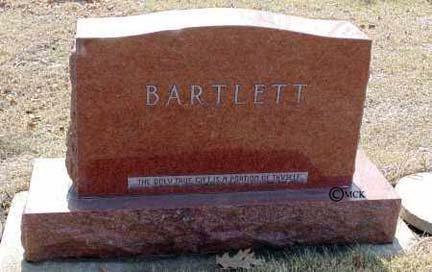 BARTLETT, FAMILY HEADSTONE - Minnehaha County, South Dakota | FAMILY HEADSTONE BARTLETT - South Dakota Gravestone Photos