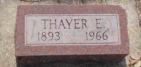 BARTLETT, THAYER E. - Minnehaha County, South Dakota | THAYER E. BARTLETT - South Dakota Gravestone Photos