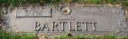 BARTLETT, WALTER - Minnehaha County, South Dakota | WALTER BARTLETT - South Dakota Gravestone Photos
