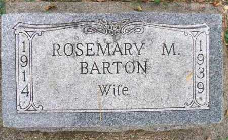 BARTON, ROSEMARY M. - Minnehaha County, South Dakota   ROSEMARY M. BARTON - South Dakota Gravestone Photos