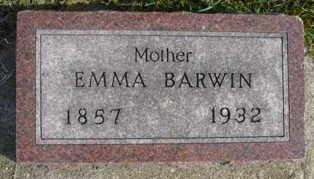 BARWIN, EMMA - Minnehaha County, South Dakota | EMMA BARWIN - South Dakota Gravestone Photos