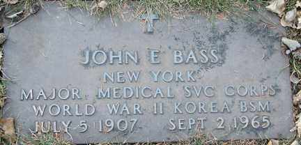 BASS, JOHN E. (MILITARY) - Minnehaha County, South Dakota | JOHN E. (MILITARY) BASS - South Dakota Gravestone Photos