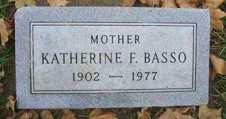 BASSO, KATHERINE F. - Minnehaha County, South Dakota | KATHERINE F. BASSO - South Dakota Gravestone Photos