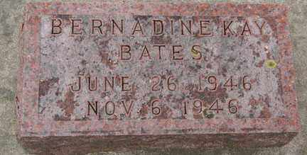 BATES, BERNADINE KAY - Minnehaha County, South Dakota | BERNADINE KAY BATES - South Dakota Gravestone Photos