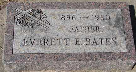 BATES, EVERETT E. - Minnehaha County, South Dakota | EVERETT E. BATES - South Dakota Gravestone Photos