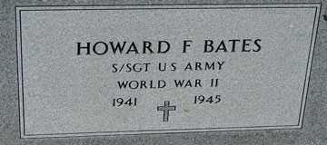 BATES, HOWARD F. (WWII) - Minnehaha County, South Dakota | HOWARD F. (WWII) BATES - South Dakota Gravestone Photos