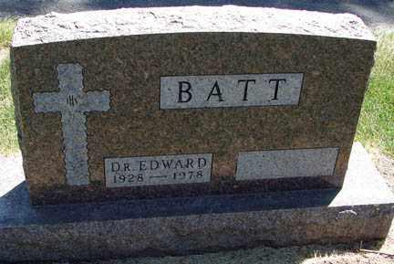 BATT, EDWARD DR. - Minnehaha County, South Dakota | EDWARD DR. BATT - South Dakota Gravestone Photos