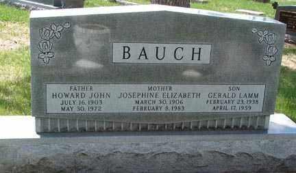BAUCH, HOWARD JOHN - Minnehaha County, South Dakota | HOWARD JOHN BAUCH - South Dakota Gravestone Photos