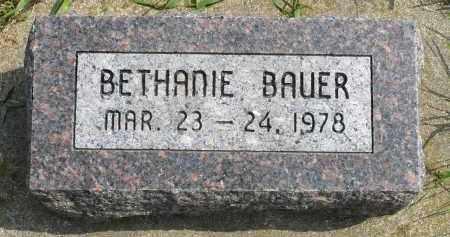 BAUER, BETHANIE - Minnehaha County, South Dakota | BETHANIE BAUER - South Dakota Gravestone Photos