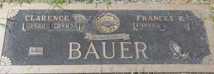 BAUER, FRANCES E. - Minnehaha County, South Dakota | FRANCES E. BAUER - South Dakota Gravestone Photos