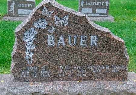 BAUER, DELWIN W. - Minnehaha County, South Dakota | DELWIN W. BAUER - South Dakota Gravestone Photos