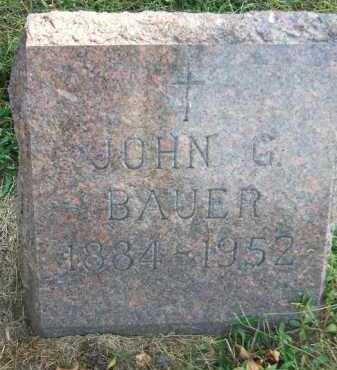 BAUER, JOHN G. - Minnehaha County, South Dakota   JOHN G. BAUER - South Dakota Gravestone Photos