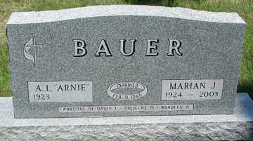 BAUER, MARIAN J. - Minnehaha County, South Dakota | MARIAN J. BAUER - South Dakota Gravestone Photos