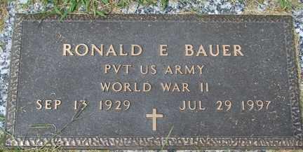 BAUER, RONALD E. (WWII) - Minnehaha County, South Dakota | RONALD E. (WWII) BAUER - South Dakota Gravestone Photos