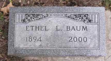 BAUM, ETHEL L. - Minnehaha County, South Dakota | ETHEL L. BAUM - South Dakota Gravestone Photos
