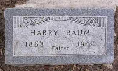 BAUM, HARRY - Minnehaha County, South Dakota | HARRY BAUM - South Dakota Gravestone Photos
