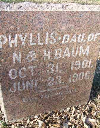BAUM, PHYLLIS - Minnehaha County, South Dakota | PHYLLIS BAUM - South Dakota Gravestone Photos