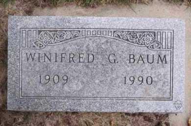 BAUM, WINIFRED G. - Minnehaha County, South Dakota | WINIFRED G. BAUM - South Dakota Gravestone Photos