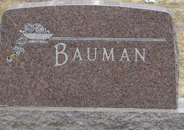 BAUMAN, FAMILY MARKER - Minnehaha County, South Dakota | FAMILY MARKER BAUMAN - South Dakota Gravestone Photos