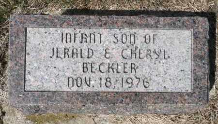 BECKLER, INFANT SON - Minnehaha County, South Dakota | INFANT SON BECKLER - South Dakota Gravestone Photos