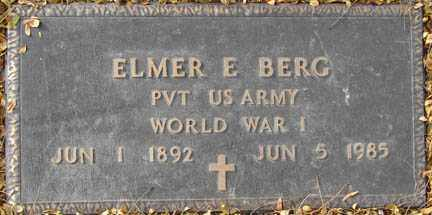 BERG, ELMER E. - Minnehaha County, South Dakota | ELMER E. BERG - South Dakota Gravestone Photos