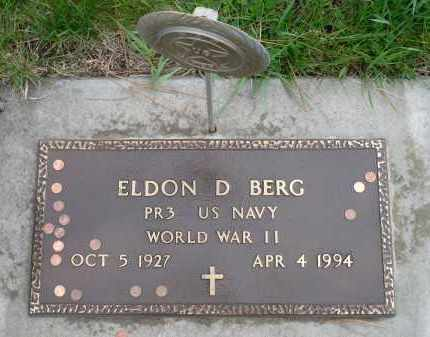 BERG, ELDON DWANE (WWII) - Minnehaha County, South Dakota | ELDON DWANE (WWII) BERG - South Dakota Gravestone Photos