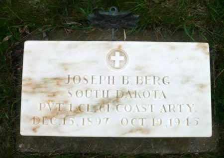 BERG, JOSEPH B. - Minnehaha County, South Dakota   JOSEPH B. BERG - South Dakota Gravestone Photos