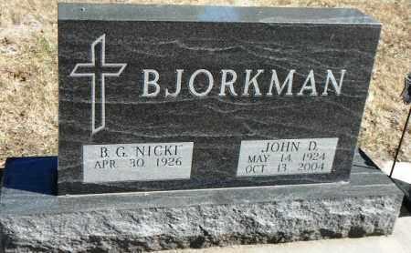 "ANTON BJORKMAN, BERNADINE G. ""NICKI"" - Minnehaha County, South Dakota | BERNADINE G. ""NICKI"" ANTON BJORKMAN - South Dakota Gravestone Photos"
