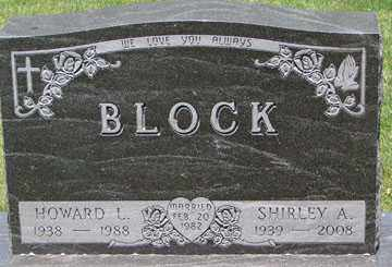 JOHNSON BLOCK, SHIRLEY A. - Minnehaha County, South Dakota   SHIRLEY A. JOHNSON BLOCK - South Dakota Gravestone Photos