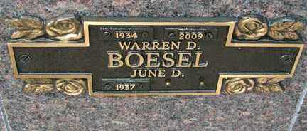 BOESEL, WARREN D. - Minnehaha County, South Dakota | WARREN D. BOESEL - South Dakota Gravestone Photos