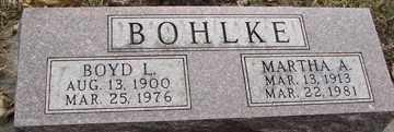 BOHLKE, BOYD  L. - Minnehaha County, South Dakota | BOYD  L. BOHLKE - South Dakota Gravestone Photos