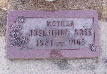 ANDERSON BOSS, JOSEPHINE - Minnehaha County, South Dakota | JOSEPHINE ANDERSON BOSS - South Dakota Gravestone Photos
