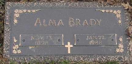 BRADY, ALMA - Minnehaha County, South Dakota | ALMA BRADY - South Dakota Gravestone Photos