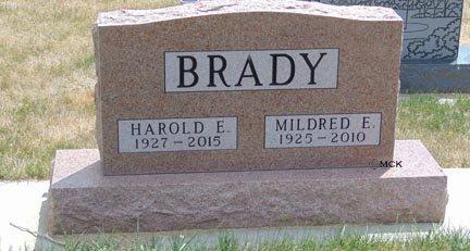 BRADY, MILDRED E. - Minnehaha County, South Dakota   MILDRED E. BRADY - South Dakota Gravestone Photos