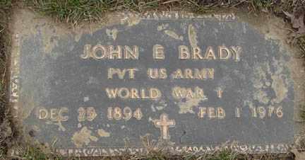 BRADY, JOHN E. - Minnehaha County, South Dakota | JOHN E. BRADY - South Dakota Gravestone Photos